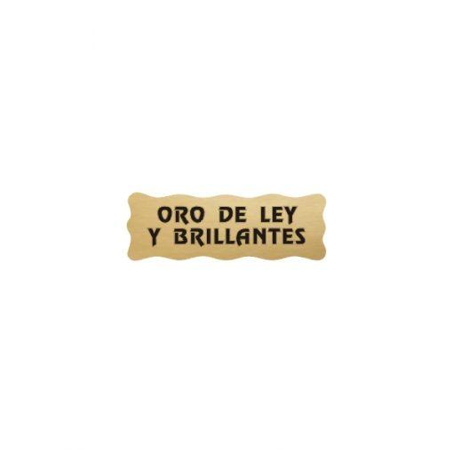 Pegatina etiqueta oro ley y brillantes